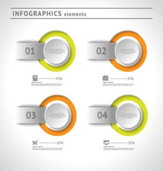 Business infographics elements design template vector