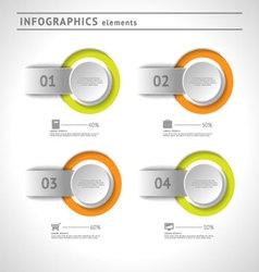 Business infographics elements design template vector