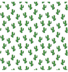 Cactus seamless pattern isolated on white vector