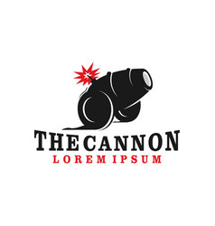 Cannon logo an ancient medieval military vector