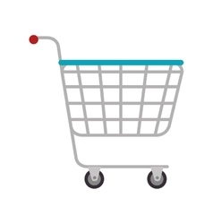 Cart supermarket shopping vector