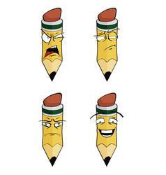 Cartoon pencil set vector