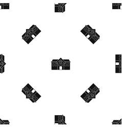 Chapel pattern seamless black vector
