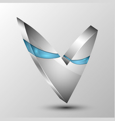 check mark with blue sections vector image