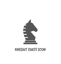 Chess knight piece icon simple flat style vector