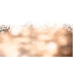 christmas snowflake banner design vector image