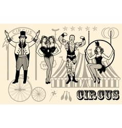 circus star vector image