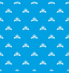 cleaning house pattern seamless blue vector image