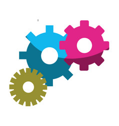 Color gears symbol process industry vector