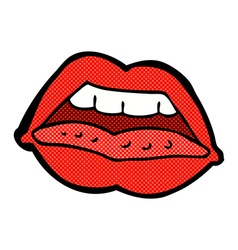 comic cartoon sexy lips symbol vector image