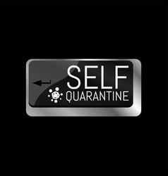 Computer keyboard key self quarantine vector