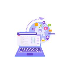 concept social media communication vector image