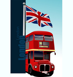 Cover for brochure with london images vector