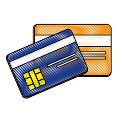 Credit cards bank vector