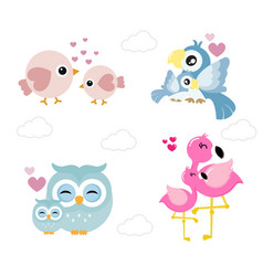 cute animals for mother day vector image