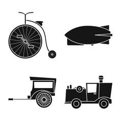 Design retro and trip symbol set of vector