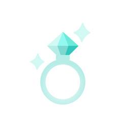 diamond ring hand drawn of diamond vector image