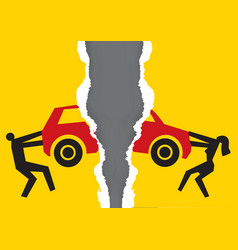 Division property at divorce car vector