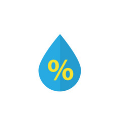 Drip flat icon symbol premium quality isolated vector
