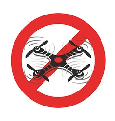 Drones Forbidden sign vector