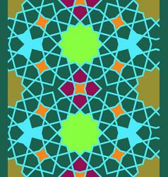 Eastern islamic colorful ornament seamless vector