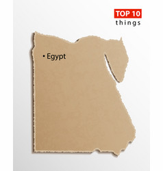 egypt map egyptian maps craft paper texture vector image