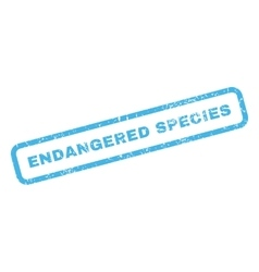 Endangered Species Rubber Stamp vector