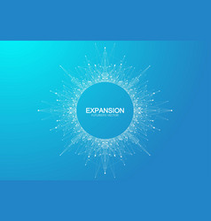 expansion life colorful explosion background vector image