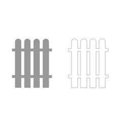 Fence set icon vector