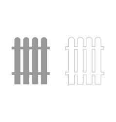 Fence set icon vector
