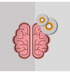 Flat about brain design vector image