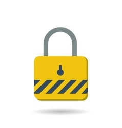 Flat safety lock icon vector