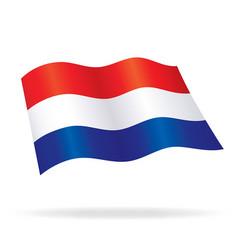 flying dutch flag netherlands holland silk vector image