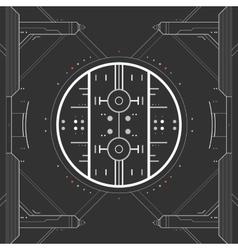 Futuristic graphic user interface vector image