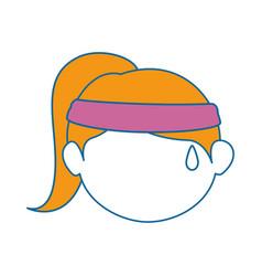 Girl face cartoon vector