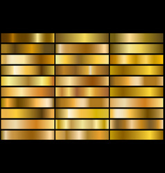 gold gradients vector image