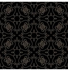Golden pattern on dark damask background vector