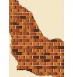 Grunge brick wall vector