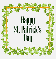happy st patricks festive background with vector image