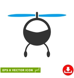 Helicopter Eps Icon vector