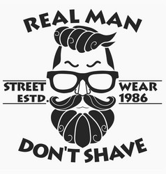 Hipster t-shirt design retro style vector