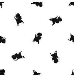 holland map pattern seamless black vector image