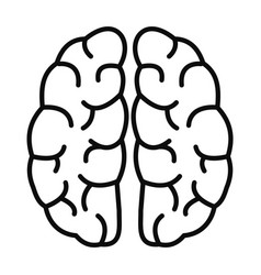 Human brain icon outline style vector
