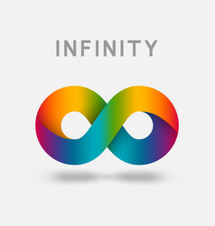 infinity multicolor abstract sign design element vector image