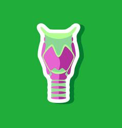 Larynx paper sticker on stylish background vector