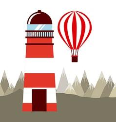 light house vector image