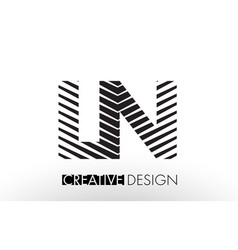 ln l n lines letter design with creative elegant vector image