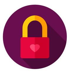 love lock circle icon vector image