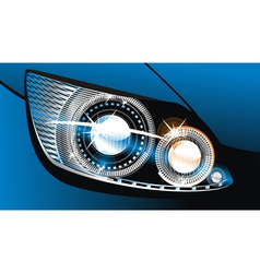 Luminescent lamp design of a car vector
