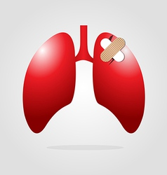 Lungs with plaster vector
